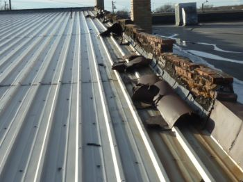 Commercial building roof inspection
